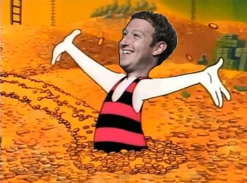 mark zuckerberg scrooge mcduck