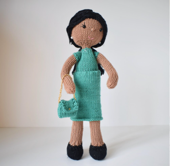 press office and digital PR support - a picture of a Meghan Markle knitted doll for International Women's Day