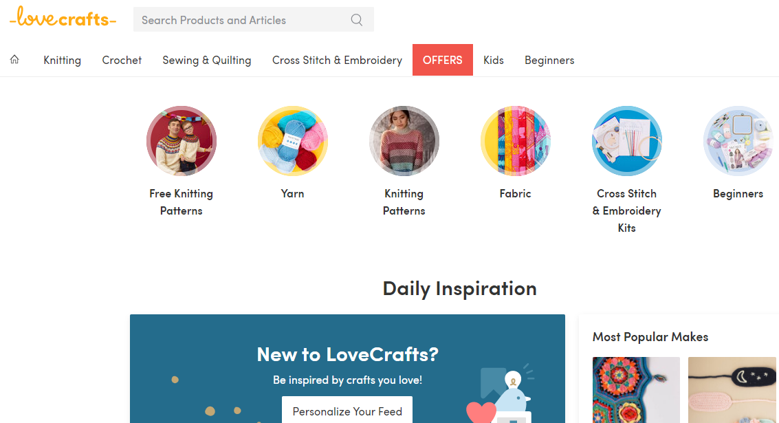 press office and digital PR for LoveCrafts