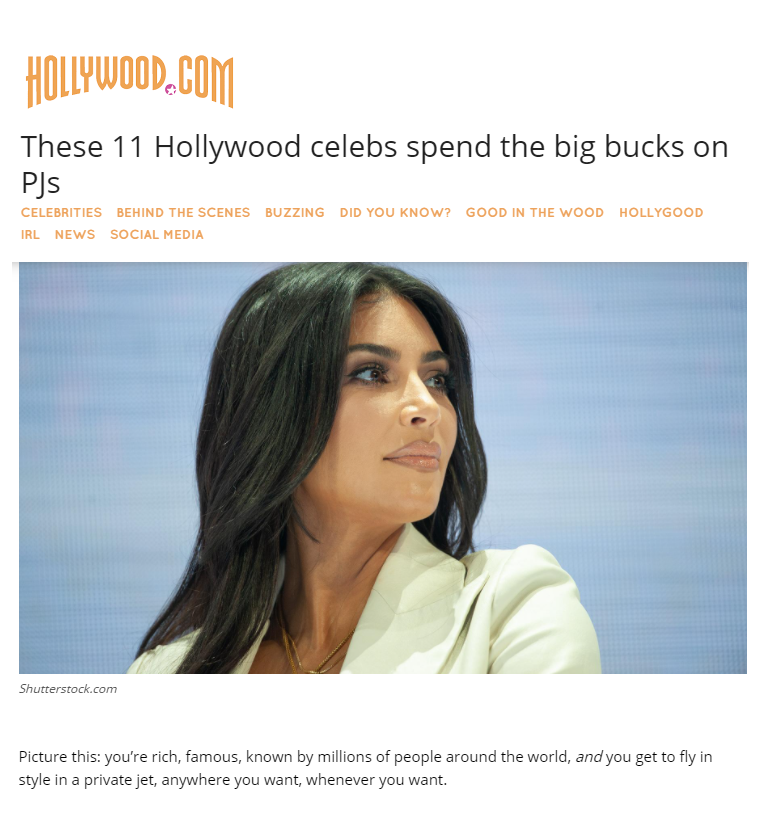 digital PR results: our story made it on to Hollywood.com