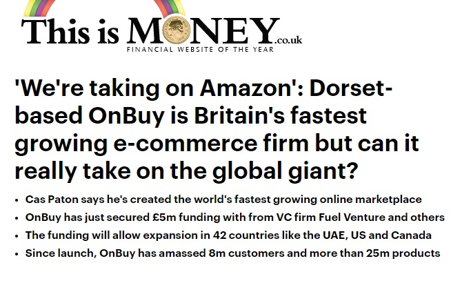 PR results - ThisisMoney featured in OnBuy.com